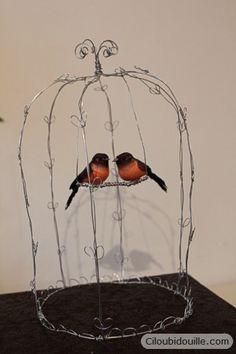 Ciloubidouille » Cage à oiseaux en fil de fer