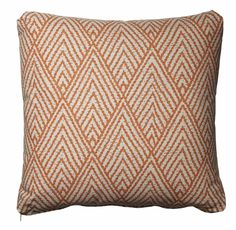 Tangerine Cotton Throw Pillow