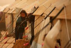 Flüchtling in einem Camp an der türkisch-syrischen Grenze: Millionen Menschen...