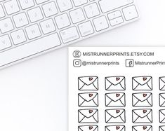 Stylish and Elegant Planner Stickers by MistrunnerPrints Mini Hands, Happy Mail, Weekly Planner, Love Letters, White Envelopes, Planner Stickers, Hand Drawn, How To Draw Hands, Etsy Seller