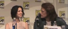 sam sticking his tongue out at cait. Love these 2 together!