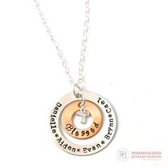 The perfect gift for grandma! Personalized necklace with her grand kiddos names. www.pixiedots.com