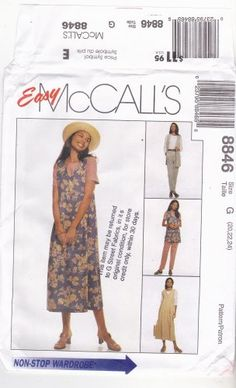 Classic separates, very comfortable and nice-looking too! McCall's 8846 Pattern uncut 20 22 24 Vest Jumper Top Pants