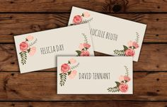 Printable Wedding Place Cards // Wedding Reception // Escort Cards // INSTANT DOWNLOAD