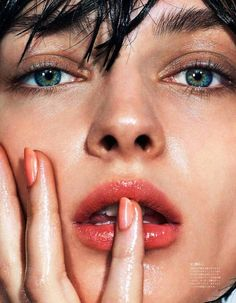 Slick Summer Beauty Inspiration From Vogue Japan via @WhoWhatWear