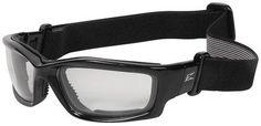 Edge Kazbek Safety Glasses/Goggles with Black Foam Padded Frame, Strap and Clear Vapor Shield Lens