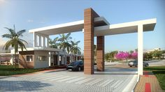 Aracaju (SE) - Page 16 - SkyscraperCity Gate Wall Design, House Main Gates Design, Duplex House Design, Modern Entrance, Entrance Design, Facade Design, Architecture Design, Entrance Gates, House Entrance