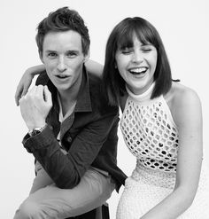 Stars Shine in InStyle's #TIFF2014 Portrait Studio - FELICITY JONES AND EDDIE REDMAYNE OF 'THE THEORY OF EVERYTHING' from #InStyle