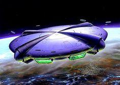 Tim White Tim White ufo just chillin see-through spaceship 743 notes Oct 2018 Arte Sci Fi, Fantasy Words, Sci Fi Fantasy, Nave Enterprise, Art Science Fiction, Cyberpunk, Spaceship Concept, Spaceship Art, 70s Sci Fi Art