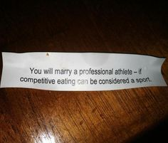 Fortune Cookie Doesn�t Sugarcoat It