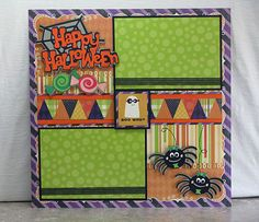 Enter to win this 2-page Halloween scrapbook layout by Oct. 12, 2012.