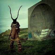 """The Incredibly Weird World Of Mothmeister's Wounderland. The boyfriend-and-girlfriend team operating under the name Mothmeister created a universe they call Wounderland (a play on """"Wonderland,"""" obviously). Wounderland is where grotesquely-masked humanoids cavort with quasi-lifelike animals in barren settings."""
