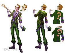 Riddler - Alternative Costume Designs - Carlos D'anda