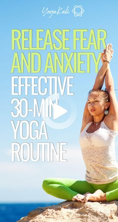 Release negative feelings and find inner power with this grounding yoga for anxiety and fear relief. #morningyoga Morning Yoga Flow, Morning Yoga Routine, Advanced Yoga, Yoga Motivation, Cool Yoga Poses, Les Sentiments, Kundalini Yoga, Yoga Poses For Beginners, Yoga For Weight Loss