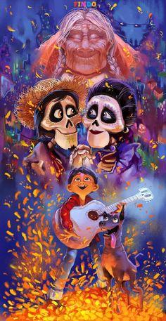 I did not have a Pixar so I had to add it to Disney Disney Pixar, Disney Amor, Animation Disney, Film Disney, Disney Fan Art, Disney And Dreamworks, Disney Love, Disney Magic, Coco Disney