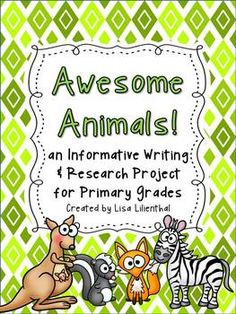 Primary students will love choosing different animals to learn about, taking notes about each animal, and creating an awesome animal book! This would be great to use with a themed unit of study such as zoo animals, rain forest animals, ocean animals, and more!
