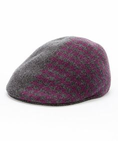 A classic houndstooth textile offers timeless style on this newsboy's supersoft wool-blend construction. Kangol Caps, Newsboy Cap, Houndstooth, Timeless Fashion, Ivy, Wool Blend, Charcoal, Beanie, Textiles