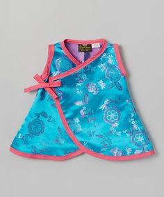 b3c21aeb8ce Teal Flower Wrap Dress - Infant by Conscious Children s