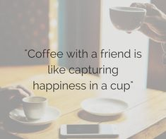 Coffee with a friend is like capturing happiness in a cup Funny Coffee, Coffee Humor, Friends Are Like, Place Cards, Happiness, Place Card Holders, Happy, Bonheur, Ser Feliz