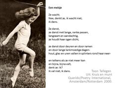 een meisje - gedicht Toon Tellegen