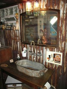 This would be a neat way to put an inexpensive and more interesting sink in the bathroom of The Tack Room at Mountain Lakes Lodge.