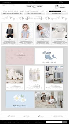 White Company Kids website