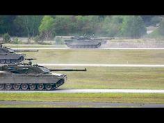 US 7th Army JMTC - Leopard 2A6 Main Battle Tanks & C1 Ariete Main Battle Tanks [1080p] - YouTube