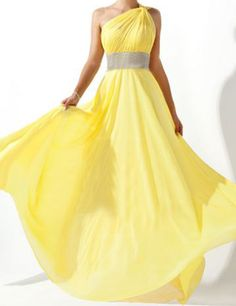 One Shoulder A line Natural Waist With line by sexyfashionbridal, $120.00