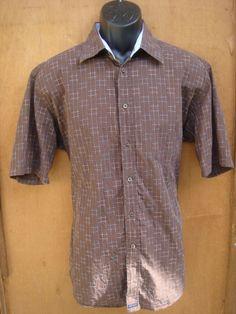 Ted Baker Shirt, Brown, London, Short Sleeve #TedBaker #ButtonFront