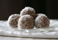 Cinnamon Oat Snow Drops, with #gf oats and coconut sugar