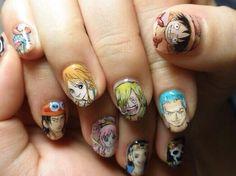 ワンピース(ONE PIECE) - 麦わらの一味 : Character nail art
