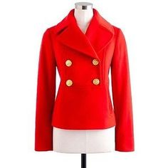 J-Crew-Jacket-red-UK-6-8-US-0-Popover-Peacoat-100-wool