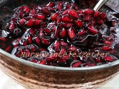how to make pomegranate jam, pomegranate jam recipe, jam recipes, various jam … - Nutella 2019 Pomegranate Jam, Fruit Jam, Jam Recipes, Bread Recipes, Vegetable Drinks, Turkish Recipes, Healthy Eating Tips, Different Recipes, Food Menu