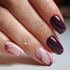 Нетипичный Маникюр Love Nails, Fun Nails, Pretty Nails, French Nails, Ring Finger Nails, Natural Nail Designs, Nagellack Trends, Gelish Nails, Burgundy Nails