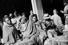 David Goldblatt Miners going home to Nyassaland after serving their twelve-month contract on the gold mines, Mayfair railway station, Johannesburg 1952 Silver gelatin photograph on fibre-based paper approx. 30 x David Goldblatt, Going Home, Street Photo, The Past, African, Gelatin, Couple Photos, Gallery, Artist
