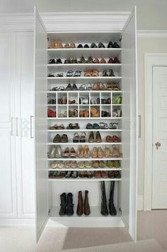 ideas white Closet Organizing Tips to Incorporate from these Dream Closets Separate Shoe Closet. ideas white Closet Organizing Tips to Incorporate from these Dream Closets Closet Shoe Storage, Bedroom Storage, Diy Storage, Shoe Storage Mudroom Ideas, Storage For Shoes, Shoe Storage Cabinet With Doors, Shoe Closet Organization, Shoe Storage Hacks, Shoe Cabinet Design