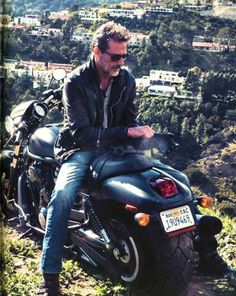 Jeffrey Dean Morgan sitting backwards on a motorcycle in Brazil is everything!