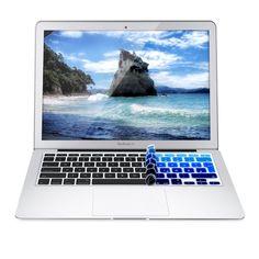 kwmobile protezione per tastiera QWERTZ in silicone per Apple MacBook Air 13''/ Pro Retina 13''/ 15'' (a metà 2016) in blu chiaro blu scuro: Amazon.it: Elettronica