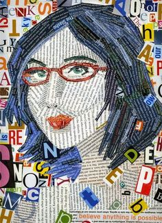 Typographic Art - for younger students, you could blow up a photo of them, and have them write words onto the image with different colours to create a pop art portrait.