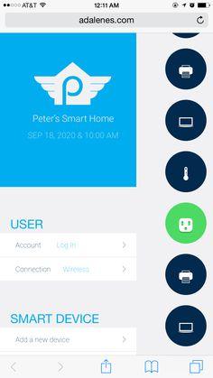 HomePilot menu panel