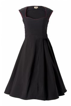 The Grace Black Bow vintage style swing party rockabilly evening dress from Lindy Bop is a classy swing dress with playfull accents and inspired by the elegant fifties style of Grace Kelly. Vintage Outfits, Retro Outfits, Vintage Fashion, Vintage Clothing, Vintage Mode, Vintage Style, Look Fashion, Fashion Outfits, Dress Up Day