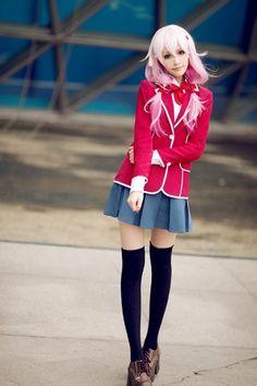 Guilty Crown school Inori cosplay ^^