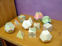 Platonic solids in Four Winds 8th grade