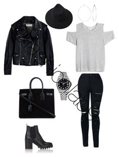 """""""Untitled #1557"""" by fashionlab9 on Polyvore featuring LnA, Yves Saint Laurent, Golden Goose, Barneys New York, Rolex and Phyllis + Rosie"""