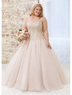 Gorgeous Tulle Sweetheart Neckline A-line Plus Size Wedding Dresses With Beaded Embroidery