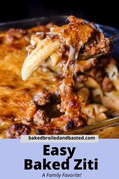 This Easy Baked Ziti is a cinch to throw together. It is creamy and full of flavor. Served with garlic bread and a green salad this is the perfect meal for any occasion. #bakedziti,#easyfamilymeals,#groundmeatmeals,#pastaislife Easy Family Meals, Easy Weeknight Meals, Group Meals, Easy Meals, Michelada Recipe, Easy Baked Ziti, A Food, Good Food, Pasta Al Dente