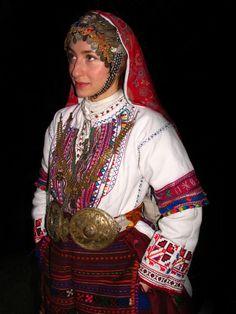 costume for St.Lazar's Day from Pirin, Sandanski (Pirin mountain region)