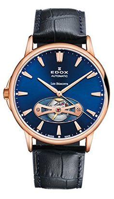 Edox Les Bémonts reloj hombre Open Heart 85021 37R BUIR