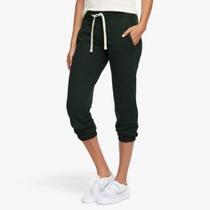 Cropped Jogger, Dark Forest