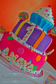Fun cake at a Candyland birthday party!   See more party ideas at CatchMyParty.com!
